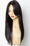 Yaffa Wigs Finest Quality Long Dark Brown 100% Human Hair