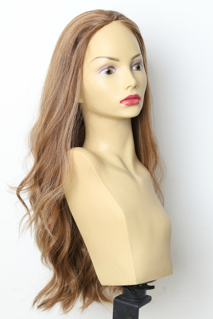 Yaffa Wigs Finest Quality Long Dirty Brown Fall Straight 100% Human Hair