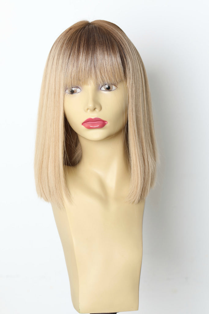 Yaffa Wigs Finest Quality Blonde With Darker roots Precut 100% Virgin Human European Hair