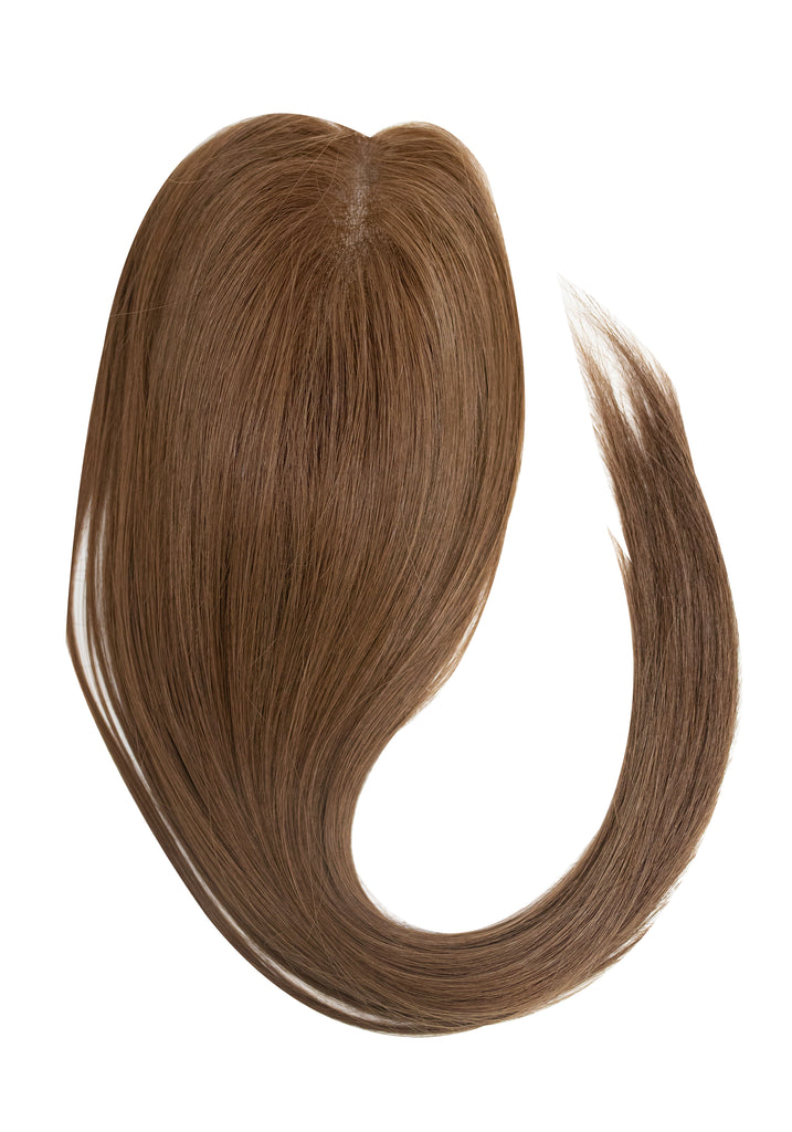 Yaffa Wigs Finest Quality Long Light Brown Gel Topper 100% Human Hair