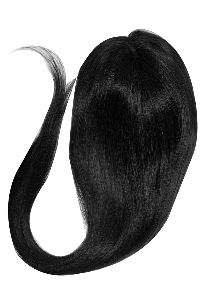 Yaffa Wigs Finest Quality Long Black Gel Topper 100% Human Hair