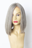 Yaffa Wigs Finest Quality Short Gray Lace Front 100% Human Hair