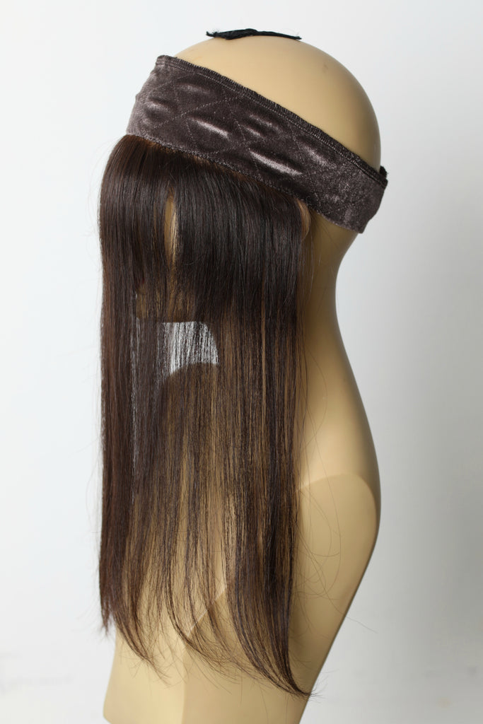 Yaffa Wigs Finest Quality Lace Front GRIP Dark Brown 100% Human Hair