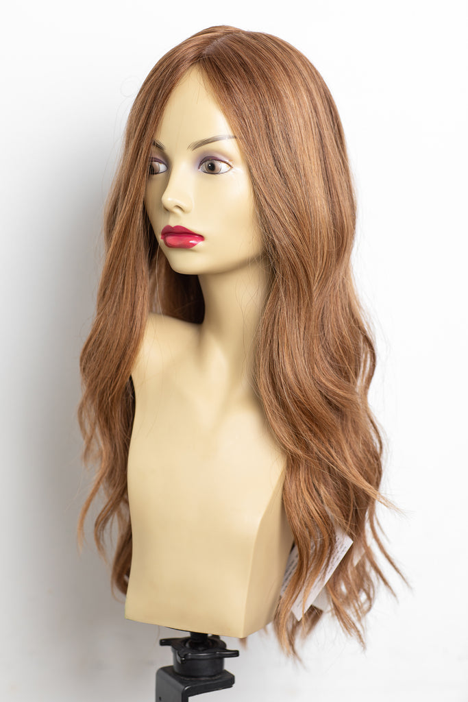 Yaffa Wigs Finest Quality Long Light Auburn 100% Human Hair