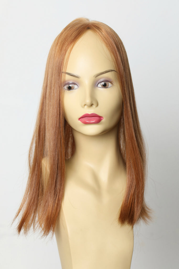 Yaffa Wigs Finest Quality Long Red Skin Top Topper 100% European Virgin Human Hair