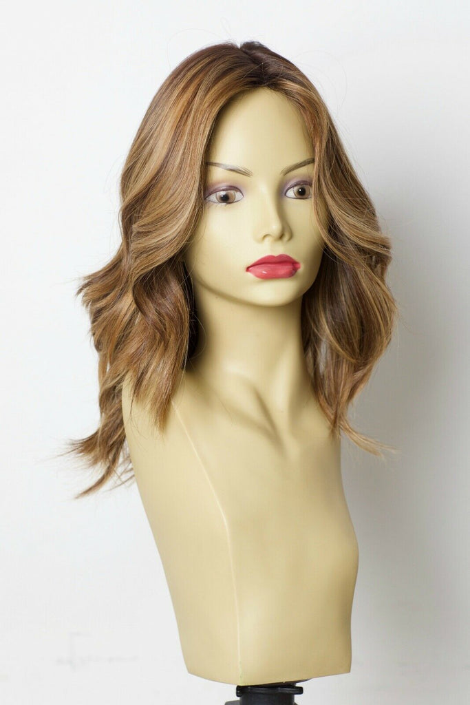 Yaffa Wigs Finest Quality Brown Highlights 100% Virgin Human European Hair