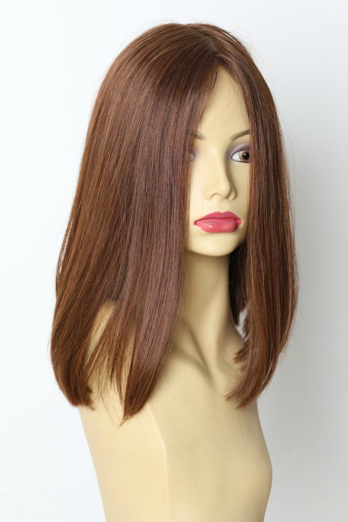 Yaffa Wigs Finest Quality Brown Short Lace Front 100%Virgin Human European Hair