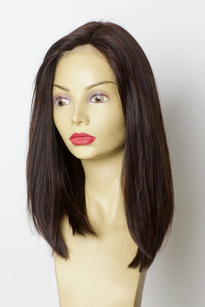Yaffa Wigs Finest Quality Brown Lace Front 100% Virgin Human European Hair
