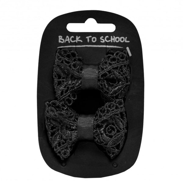 Lacy Bow Clips 2 Pack