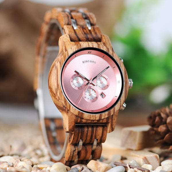 Plaza Wooden Watch