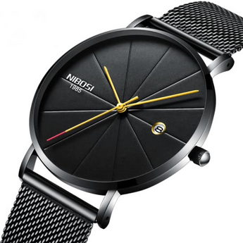 Loop Minimalist Watch Black Gold