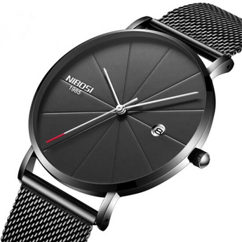 Loop Minimalist Watch Black Silver