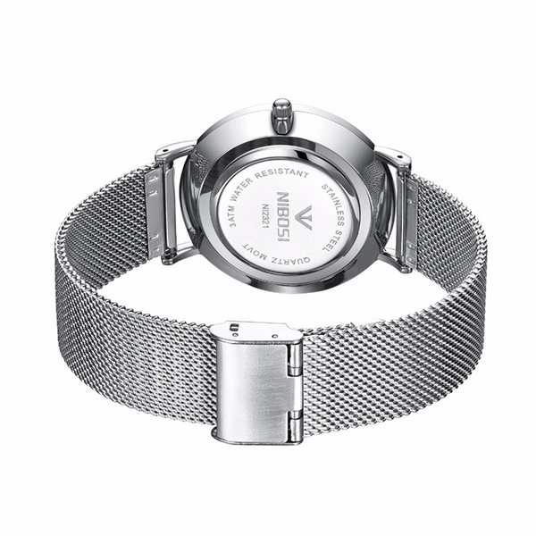 Loop Minimalist Watch Silver Gray