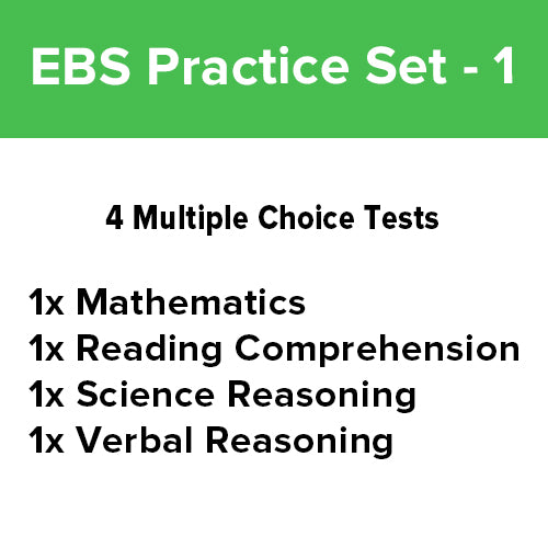 EBS Practice Test: Bundle Pack [4 Practice Tests] - 1