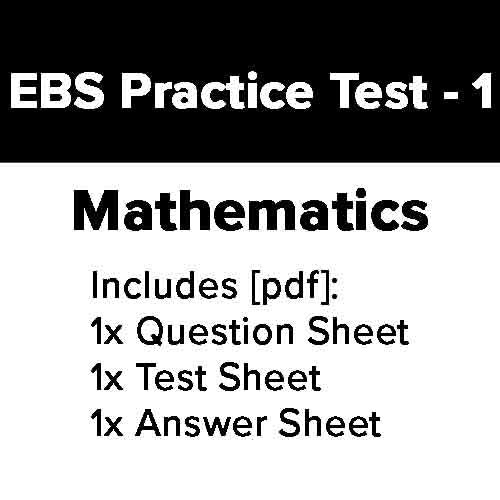EBS Practice Test: Mathematics - 1 [1 Practice Test]