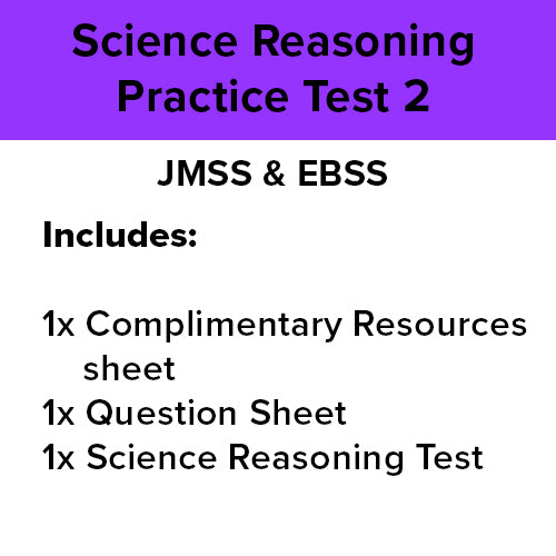 EBS & JMSS Practice Test: Science Reasoning - 2 [1 Practice Test]