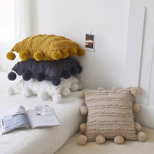 Pick A Pom Cushion Cover