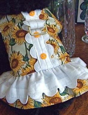 Flower Power Doggie Dress by Mama Kitty, Size X-Small