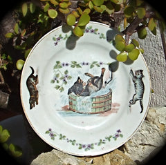 Picture of the old Dog & Cat plate.