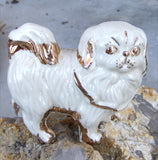 Pekingese dog ceramic figurine.