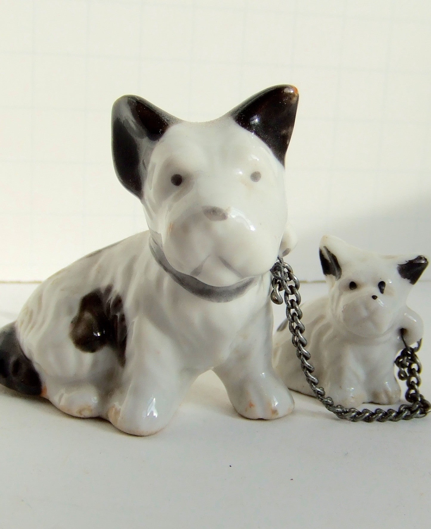 Mama Dog & Pup ceramic figurines.