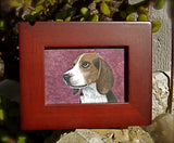 Framed Beagle picture.