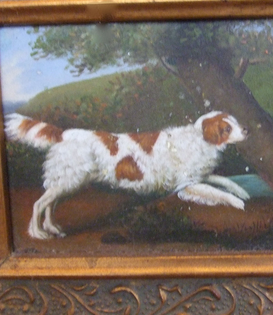 Hunting Spaniel Dog Oil Painting