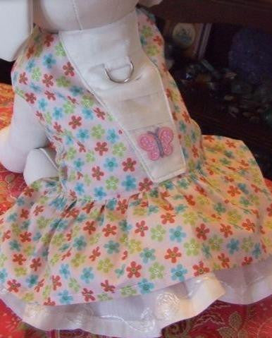 Pink Ruffle Dog Dress by Mama Kitty, Size Small