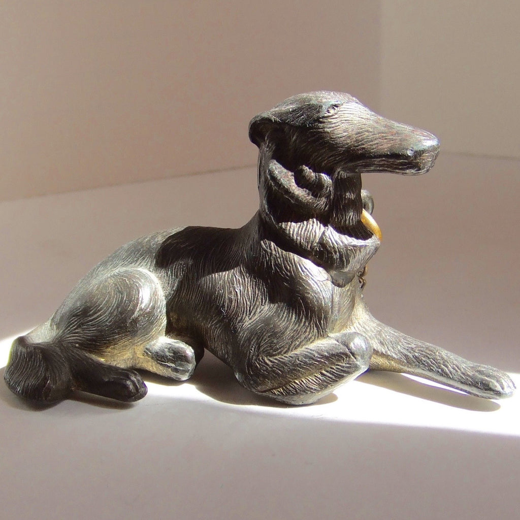 Borzoi Russian Wolf Hound. Brass, Made in Japan