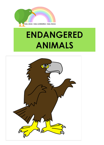 Endangered Animals - Digital Download