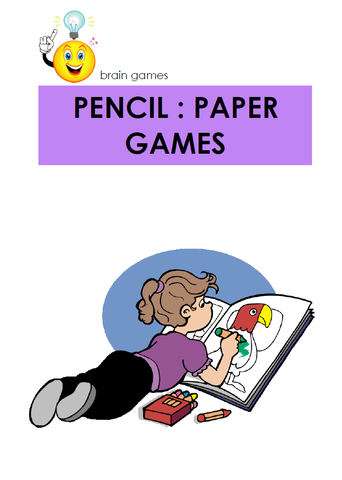 Pencil And Paper Games - Digital Download