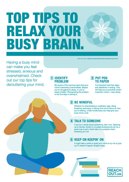 Poster PDF: Top tips to relax your brain