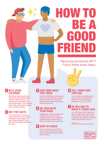Poster PDF: How to be a good friend