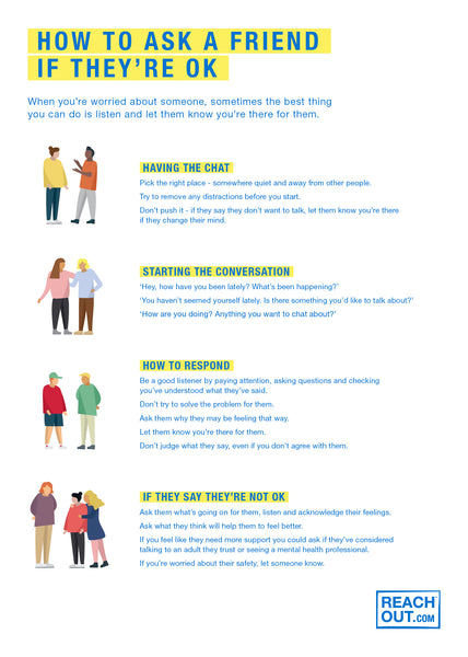 Poster PDF: How to ask a friend if they're ok