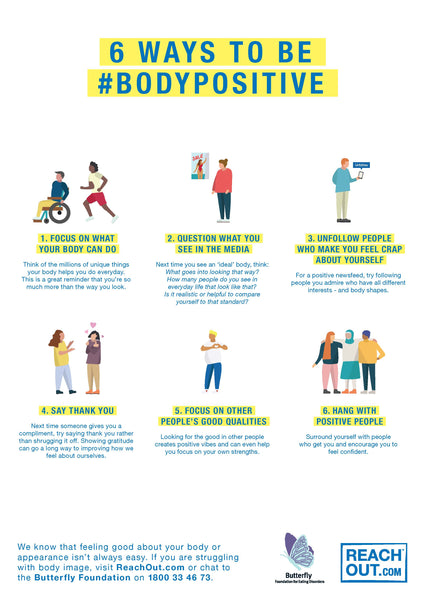 Poster PDF: 6 ways to be body positive
