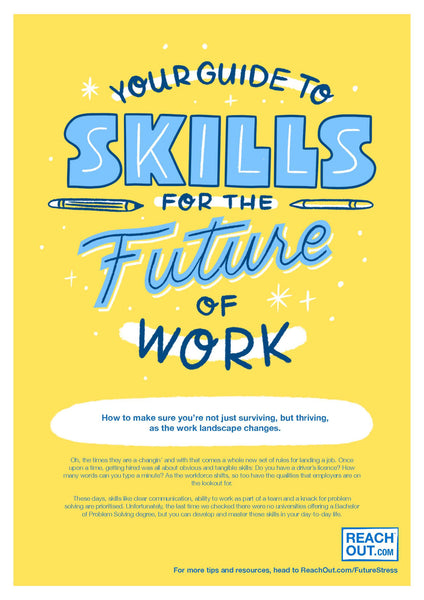 Flyer PDF: Skills for the future of work