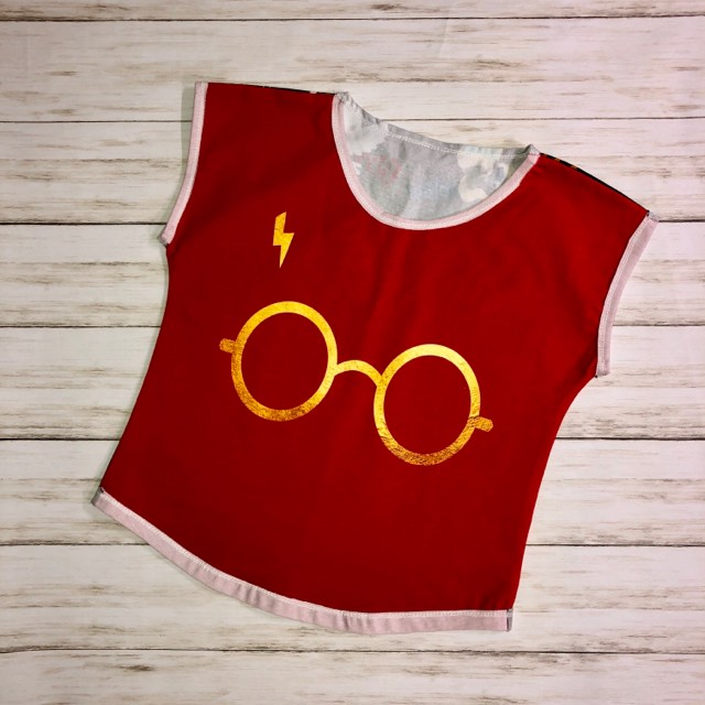 Harry Potter Glasses Dolman Top Size 9/10