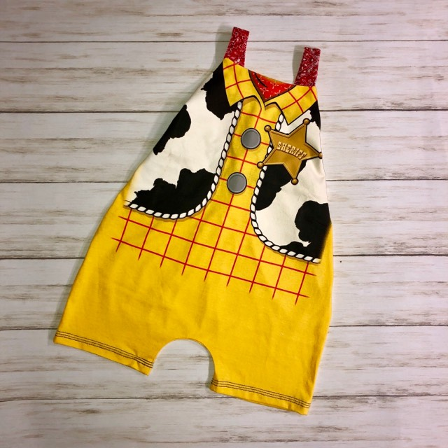 Sheriff's Upcycled Romper Size 24 mo/2T