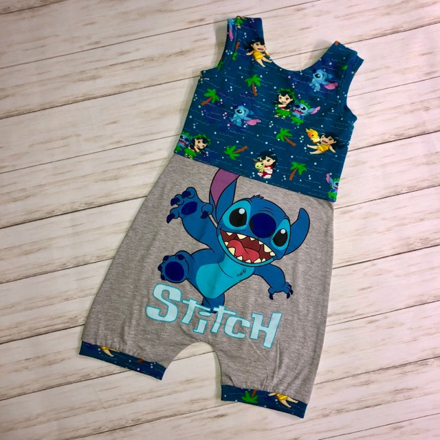 Stitch Upcycled Romper Size 7/8