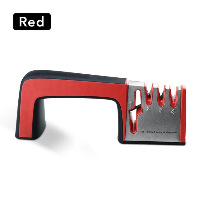 Knife and Scissors Sharpening System 4 in 1 Diamond Coated & Fine Ceramic
