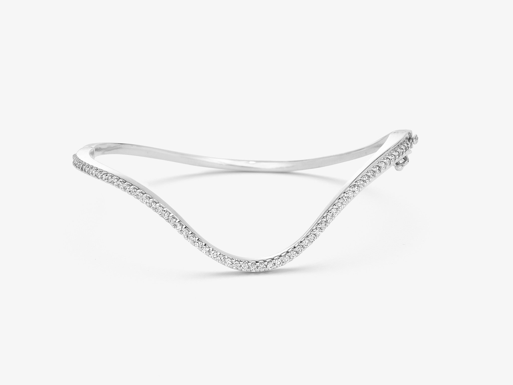 Diamond Pavé Curved Hinged Bracelet
