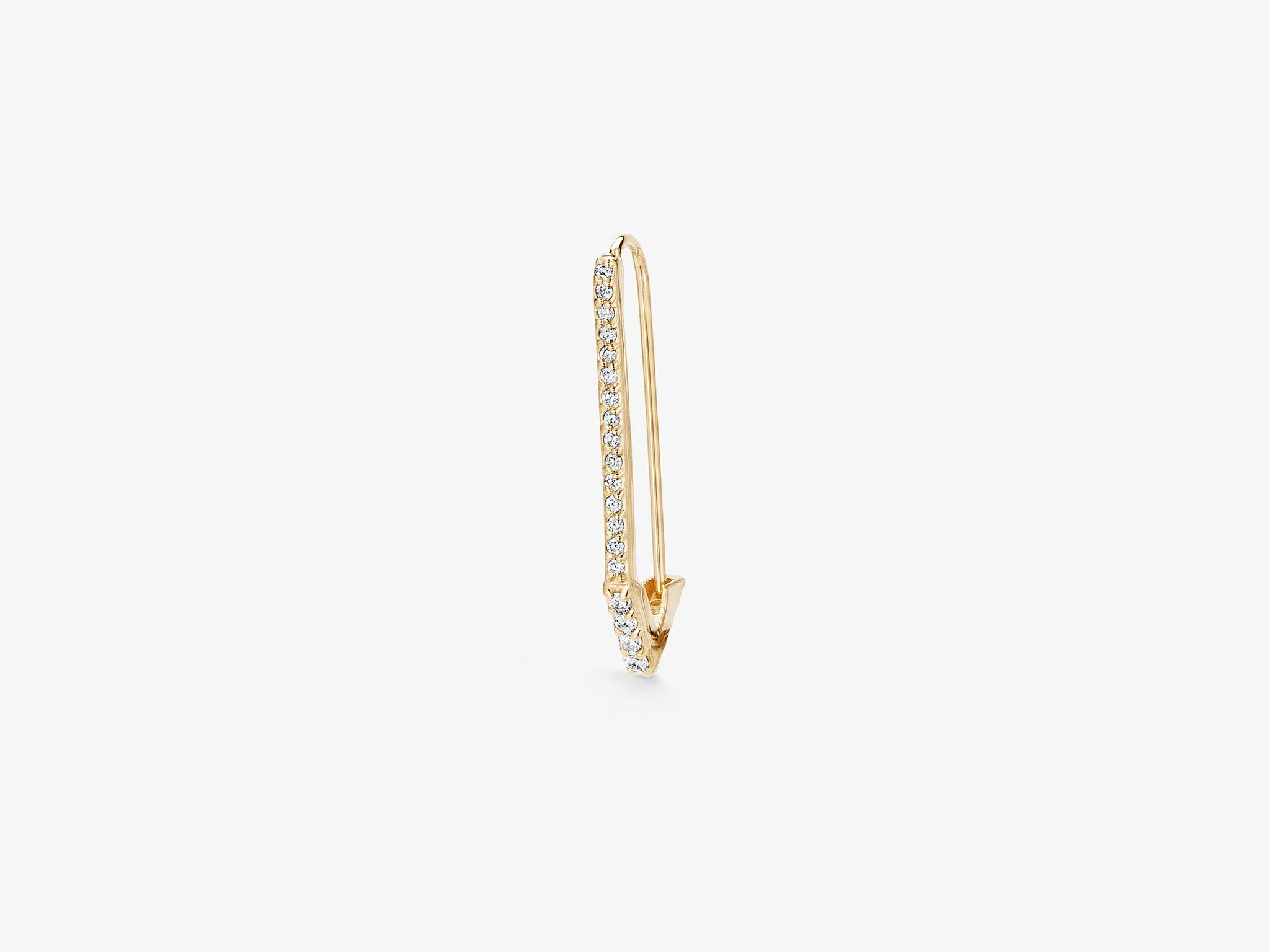 Small Single Safety Pin Earring with Triangle