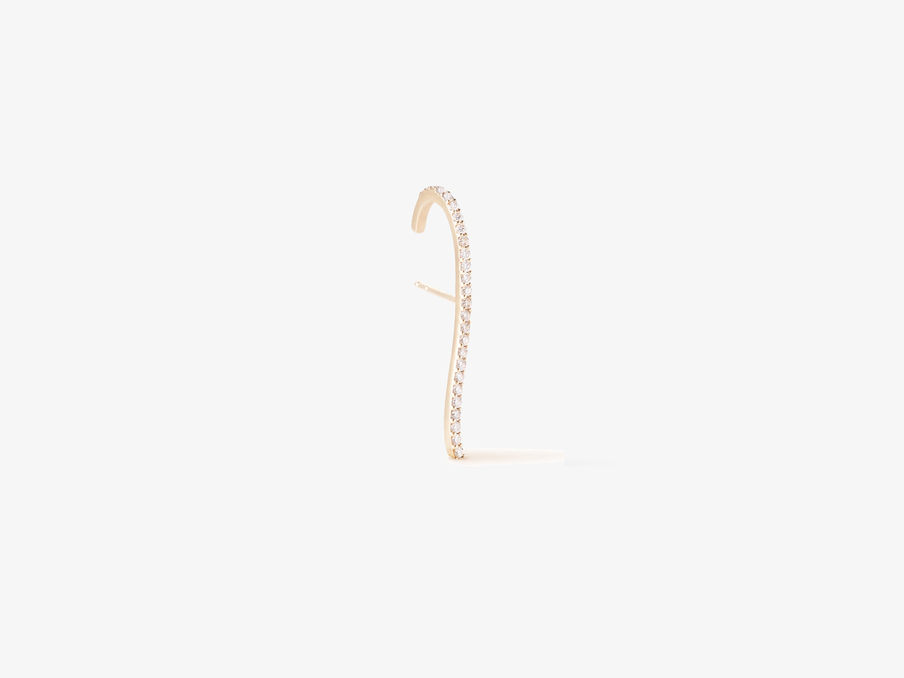 Infinity Single Diamond Pave Suspender Earring