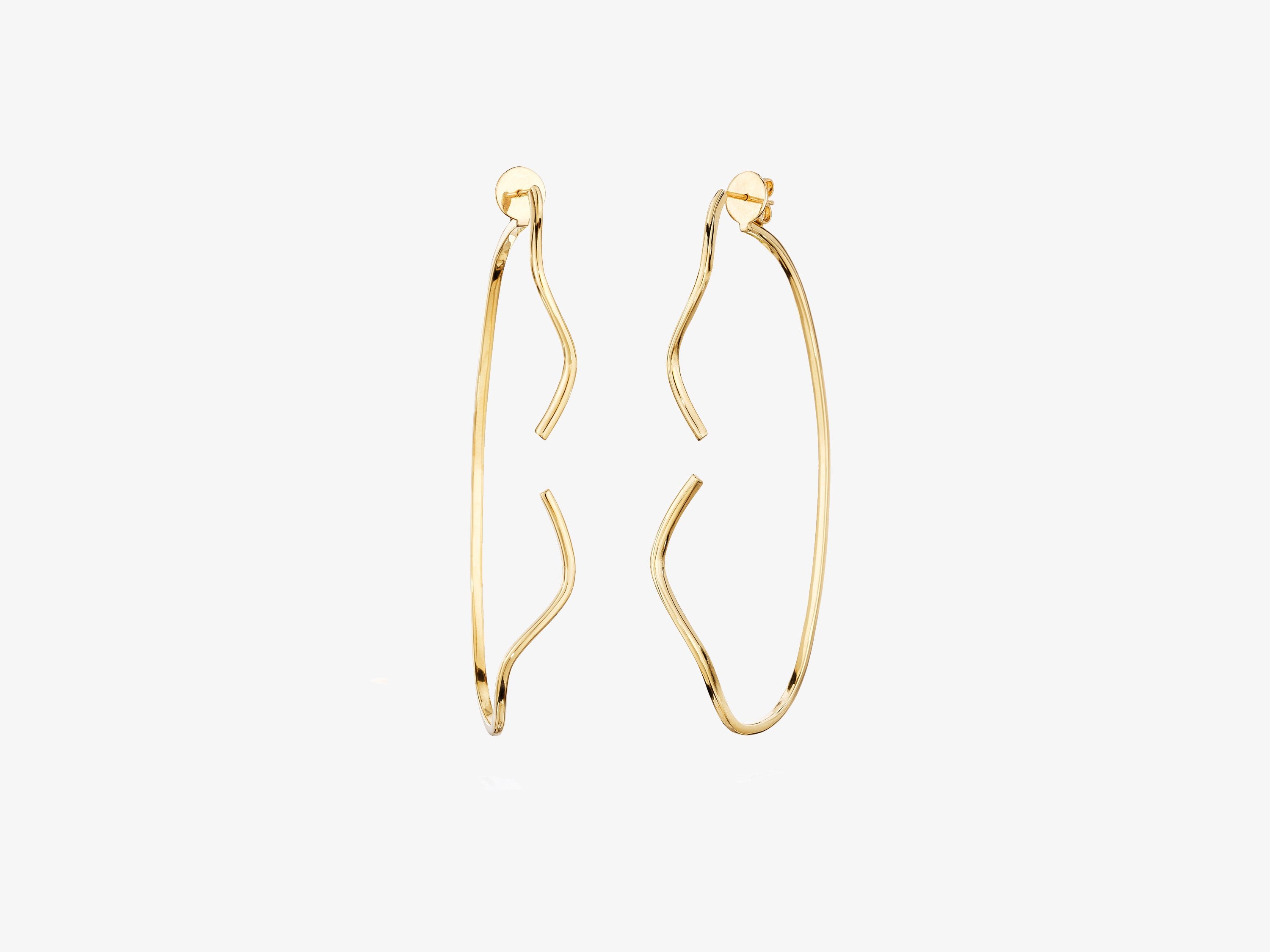 Sans Pave Curvy Two Part Earrings