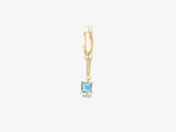 Small Modular Earring with Square Gemstone