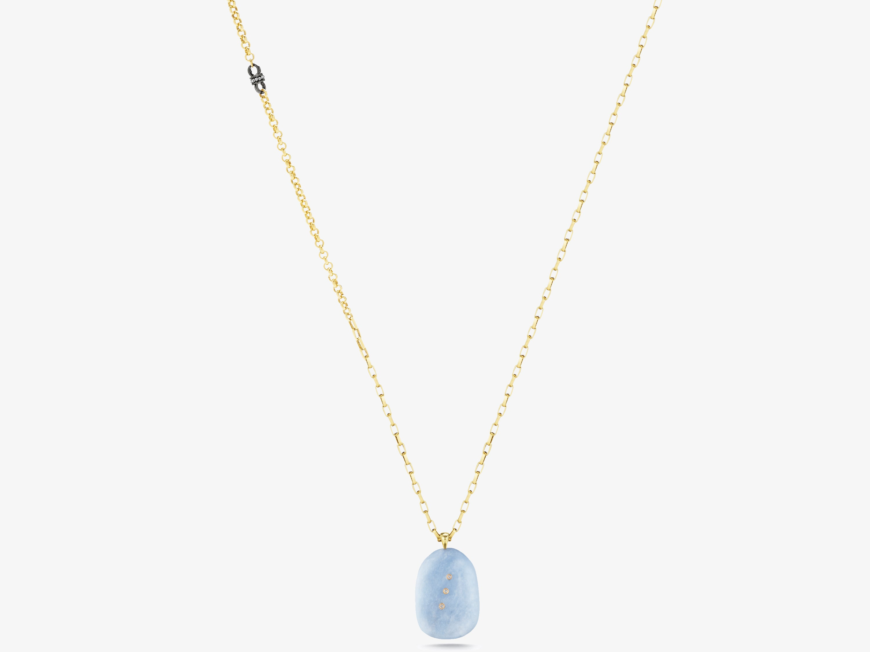 Angelite Gem Story Necklace