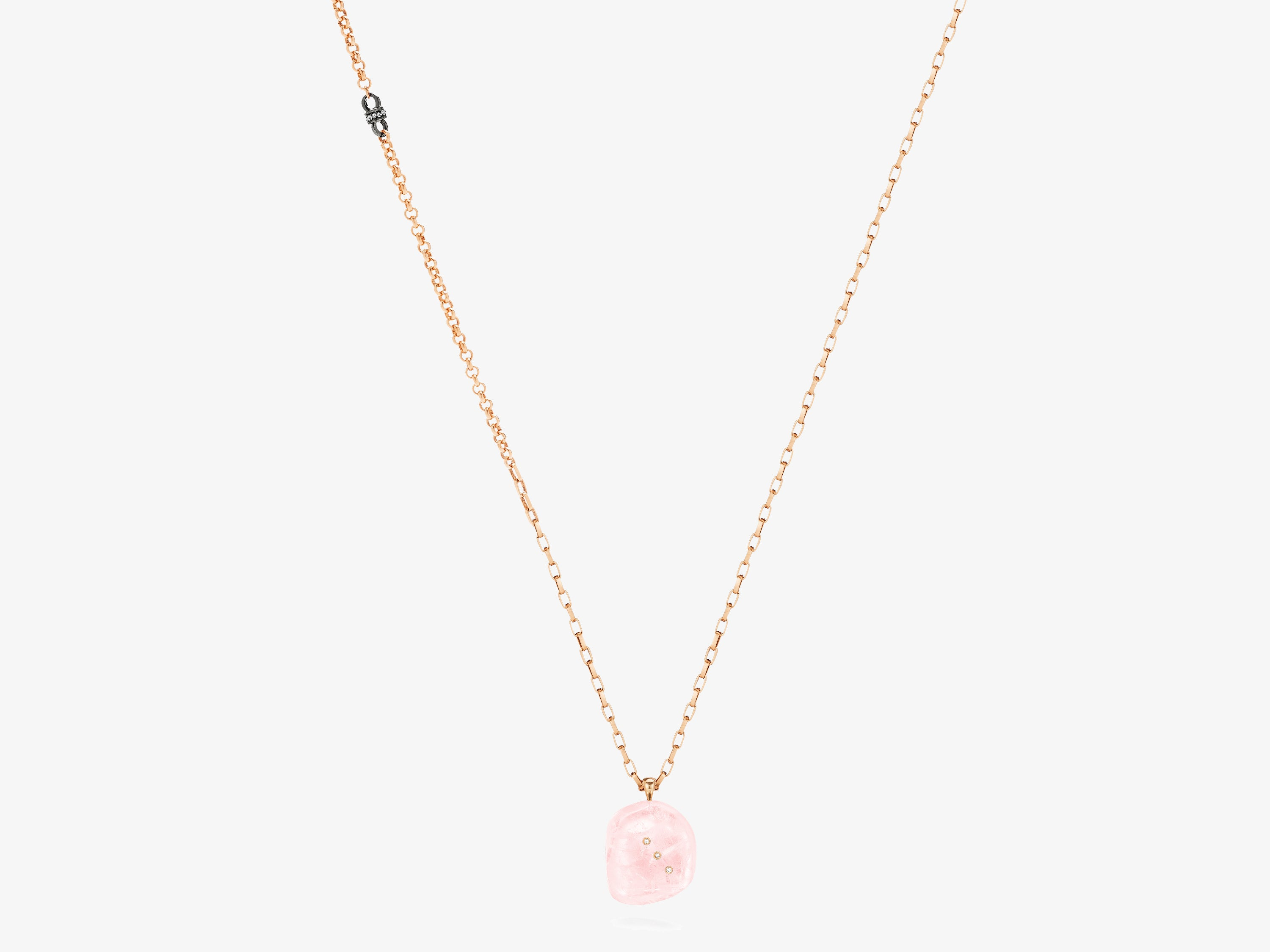 Rose Quartz Gem Story Necklace