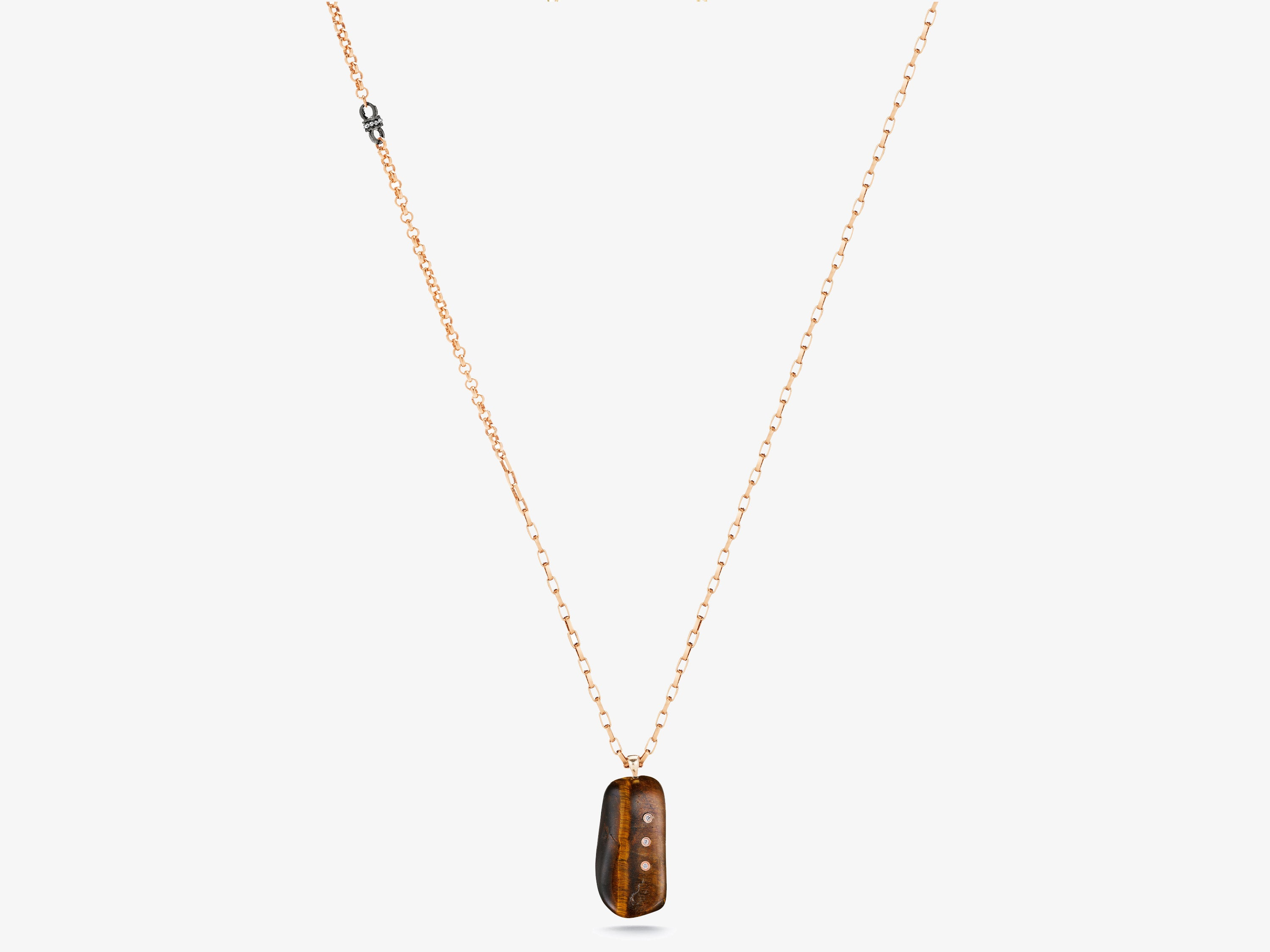 Tiger's Eye Gem Story Necklace
