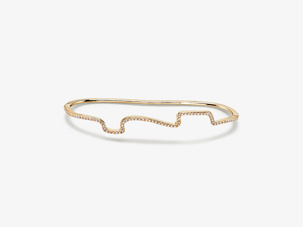 Wavy Diamond Pavé Palm Cuff