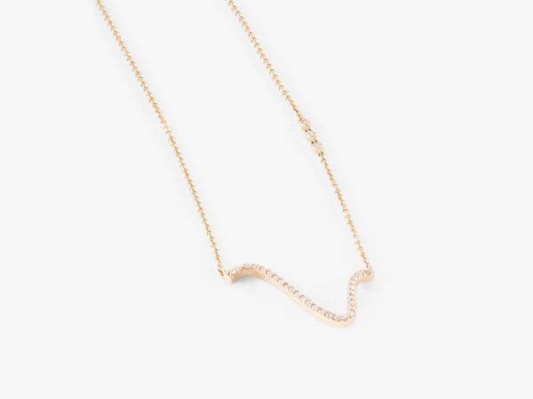 Curved Diamond Pavé Necklace